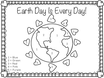 love earth day coloring pages - photo#20