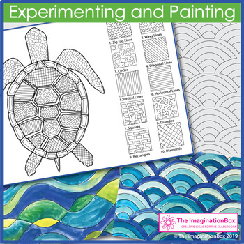 Earth Day Coloring Pages - Sea Turtles Art Activity