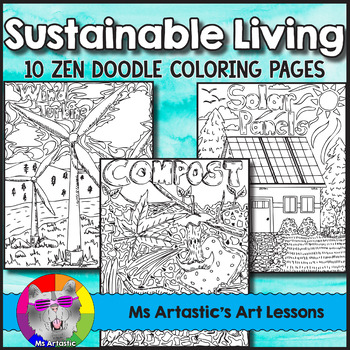 Earth Day Coloring Pages Sustainable