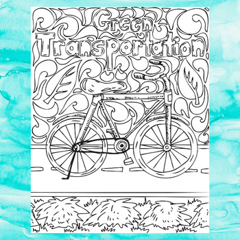 Earth Day Coloring Pages, Sustainable Living Zen Doodles
