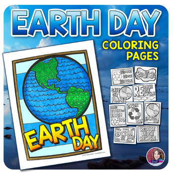 Earth Day Doodle Coloring Sheets