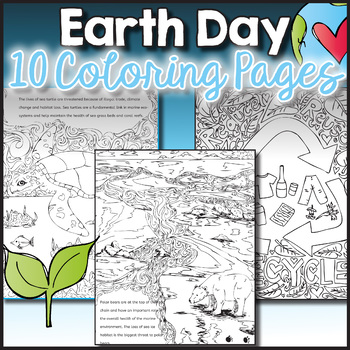 10 Earth Day Zen Doodle Coloring Sheets