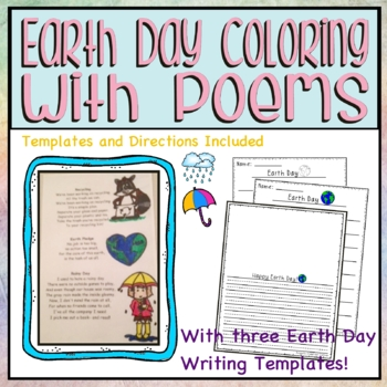 Earth Day Coloring with Poems