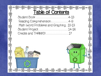Earth Day Common Core Aligned Literacy and Math Activities