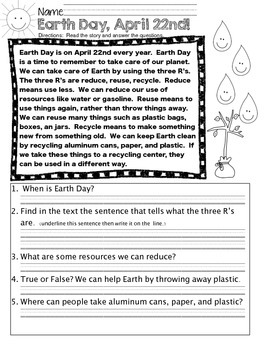 Earth Day: Common Core Math Data Activities & Much More...