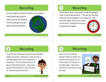 Earth Day Math Task Cards (2nd Grade Common Core)