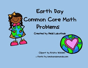 Earth Day Common Core Word Problems