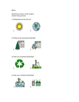 Earth Day Comprehension Questions
