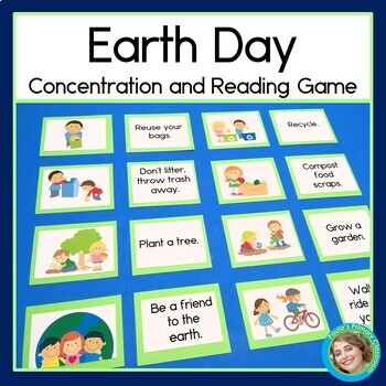 Earth Day Concentration and Reading Game