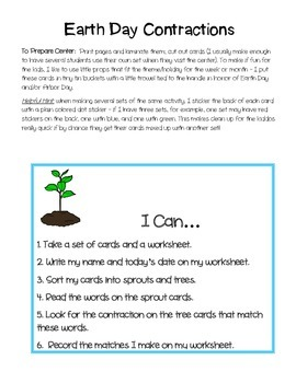 Earth Day Contractions