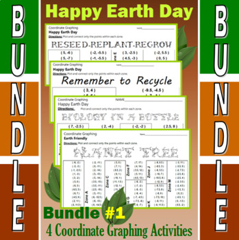 Earth Day - 4 Coordinate Graphing Activities - Bundle #1