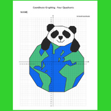 Earth Day Coordinate Graphing Picture: Happy Earth Day