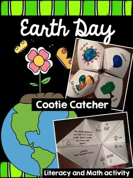 Earth Day Cootie Catcher Math and Literacy Fun!