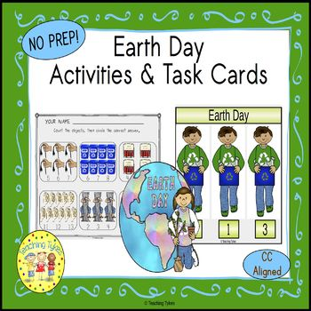 Earth Day Clip Task Cards