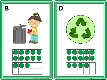Earth Day Count The Room -Ten Frames 1-10 and 11-20