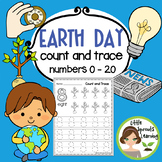 Earth Day Count and Trace (Numbers 1 -20 )