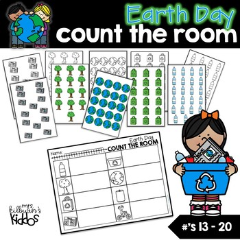 Earth Day Count the Room for Numbers 13-20