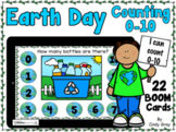 Earth Day Counting Bottles 0-10 ~ BOOM Cards ~ Distance Learning