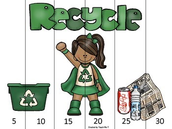 Earth Day Skip Counting Puzzles for Primary Students