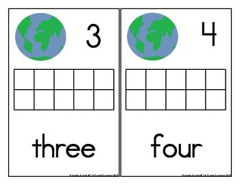 Earth Day Counting Mats 1-20 with Recycling Theme