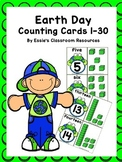 Earth Day Counting Cards 1-30 *FREEBIE*