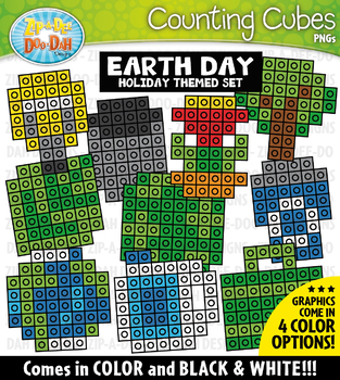 Earth Day Counting Cubes Clipart {Zip-A-Dee-Doo-Dah Designs}