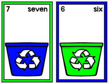 Earth Day Counting Mats 0-20