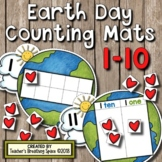 Earth Day Counting Mats 1-20 --- I LOVE THE EARTH Counting Mats with Tens Frames