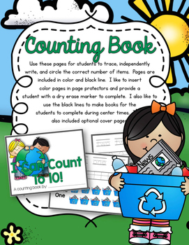 Earth Day Counting Pack 1-10