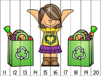Earth Day Counting Puzzles