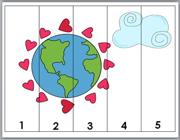 Earth Day Math - Numbers Puzzles 1-10