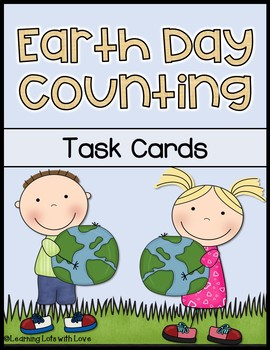 Earth Day Counting Task Cards