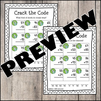 Earth Day - Crack the Code (Addition & Subtraction) Jokes