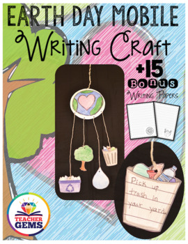 Earth Day Writing Craft Mobile