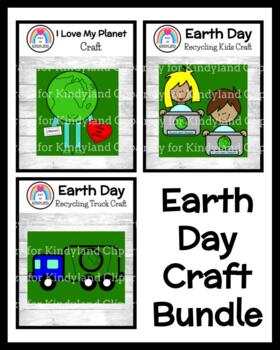 Earth Day Craft Pack: Recycling Truck, Recycling Kids, I Love My Planet