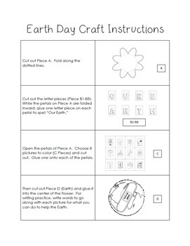 Earth Day Craft - We Love Our Earth - Seasonal Crafts