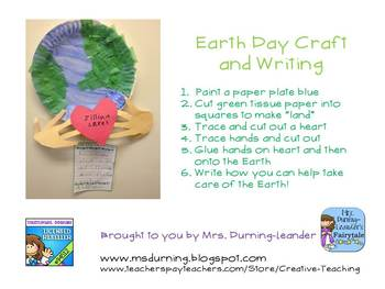Earth Day Craft and Writing Response