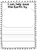 Earth Day Craft with writing