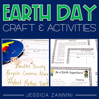 Earth Day Craftivity, Close Read, Haikus, and Map Skills
