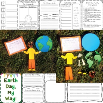 Earth Day Craft Activity | Writing Craftivity for Little Learners | Project