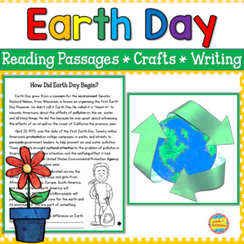 Earth Day - Differentiated Reading Passages, 2 Crafts, Brag Tags & Pledge