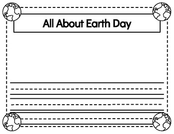 Earth Day Craftivity **SIMPLE**  **NO PREP**