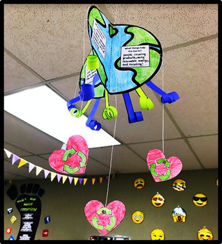 Earth Day - Craftivity - Special Education - April - Life Skills - 3D Mobile