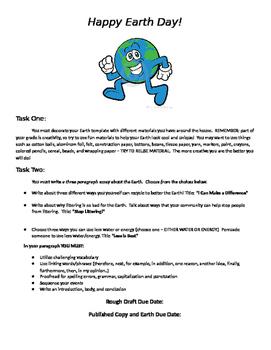Earth Day Creative Writing Activities
