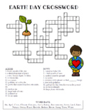 Earth Day Crossword Puzzle (Color and BW versions)