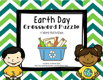 Earth Day Crossword and Word Activities