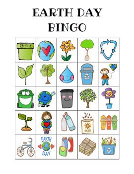 Earth Day Bingo Custom Printables