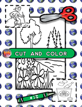 Earth Day Cut, Color, Read, and Write Activity