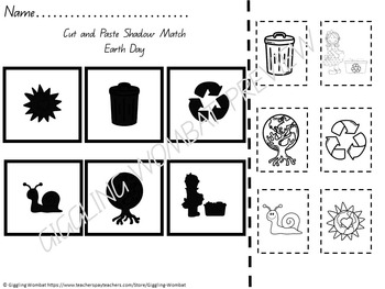 Earth Day Cut and Paste