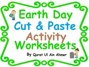 Earth Day Cut and Paste Activity Worksheets: